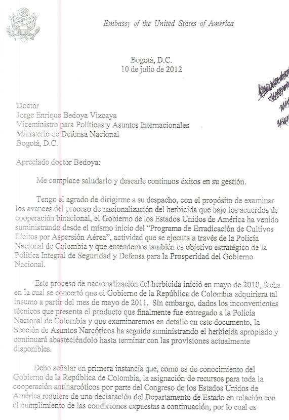 Colombia glifosato