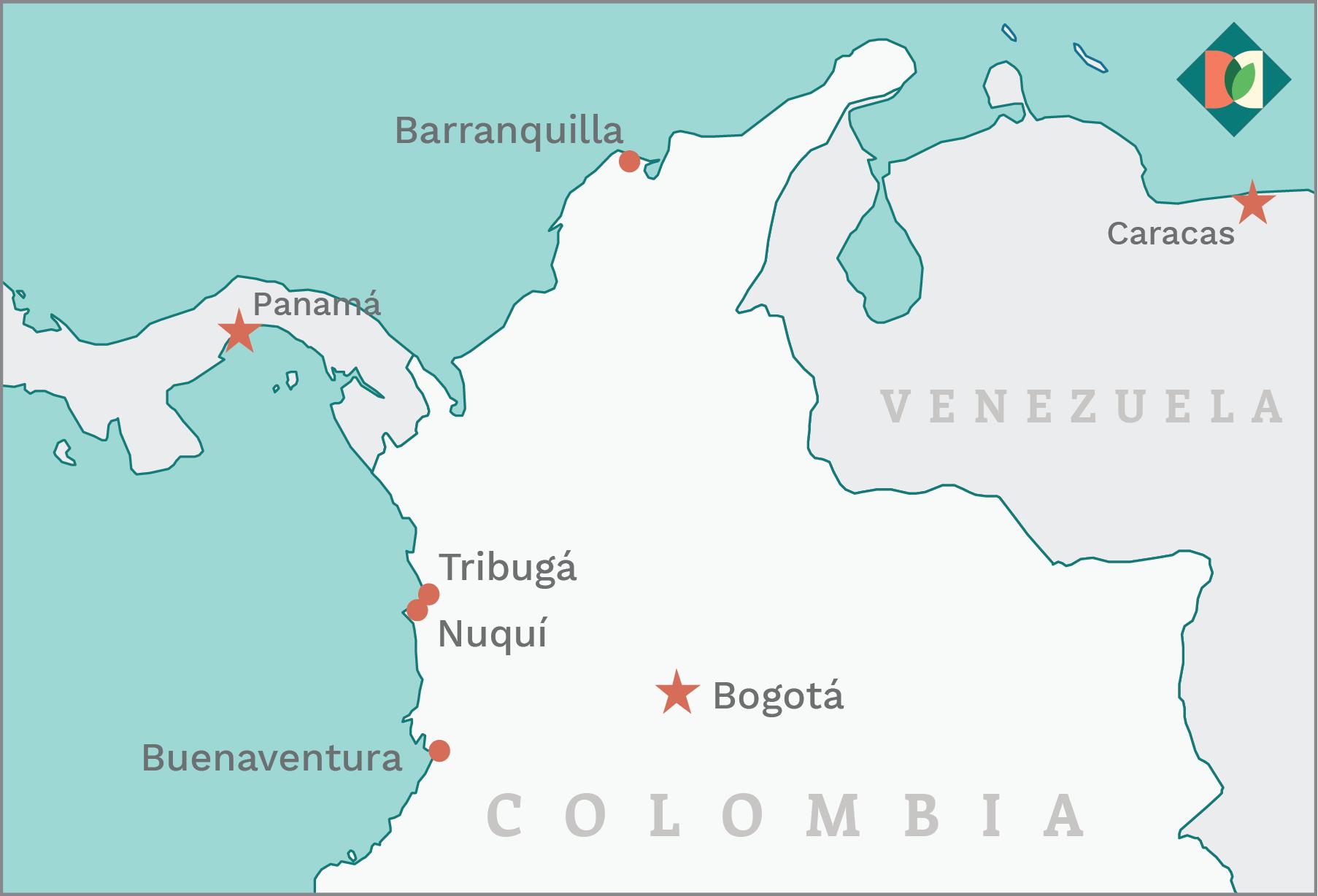 mapa puerto Tribugá