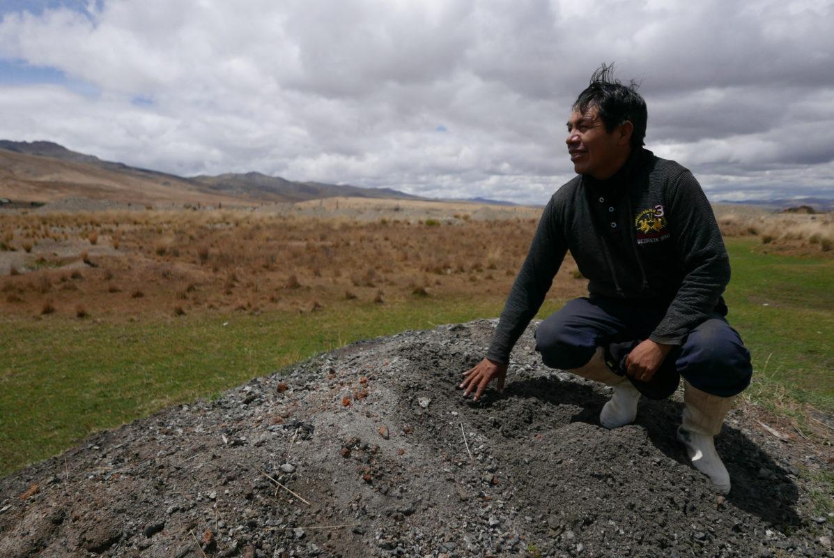 Moisés Alderete, a maca farmer from Peru
