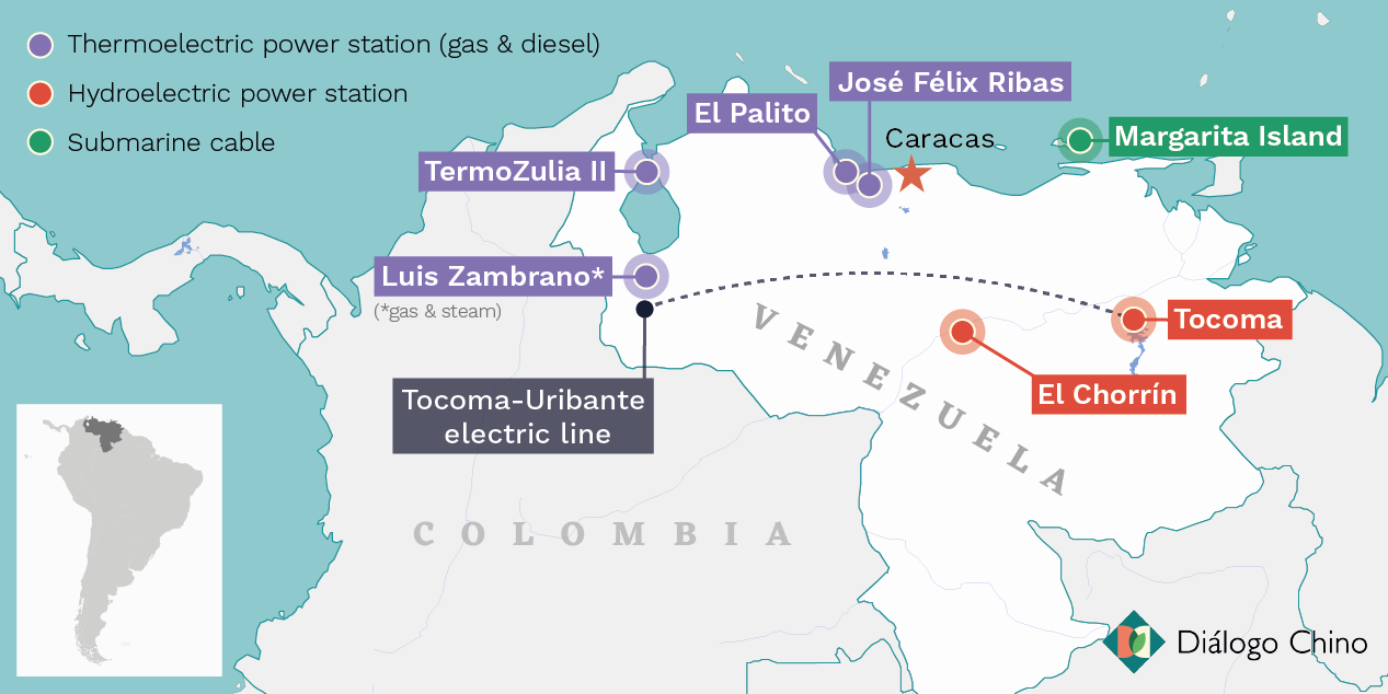 Chinese electricity projects in Venezuela