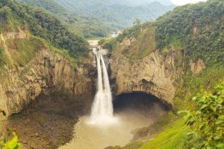 the San Rafael waterfall in Ecuador