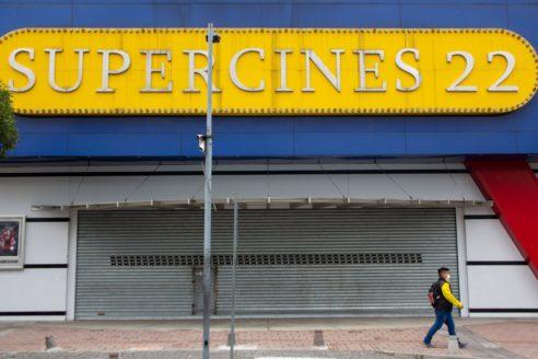 A locked-down cinema in Quito, Ecuador. Coronavirus is hitting Latin American economies
