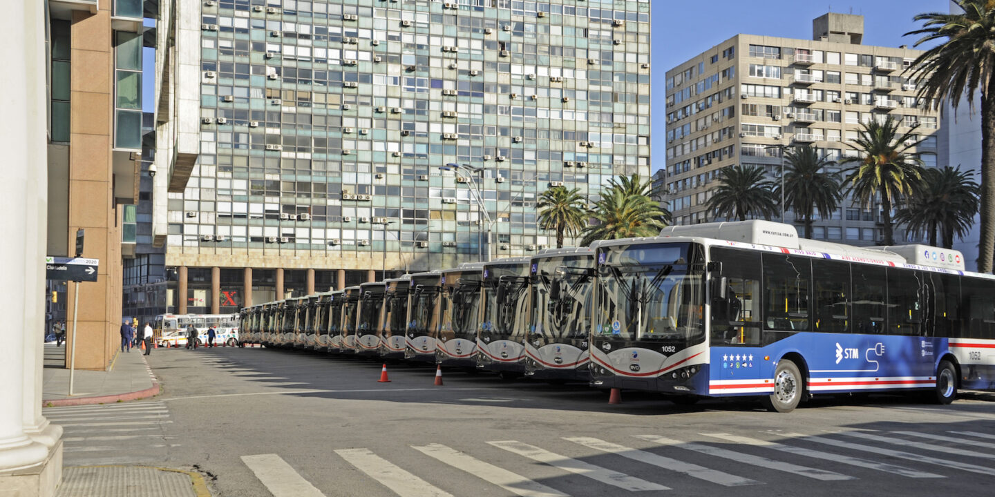 Chinese electric buses in Montevideo, Uruguay