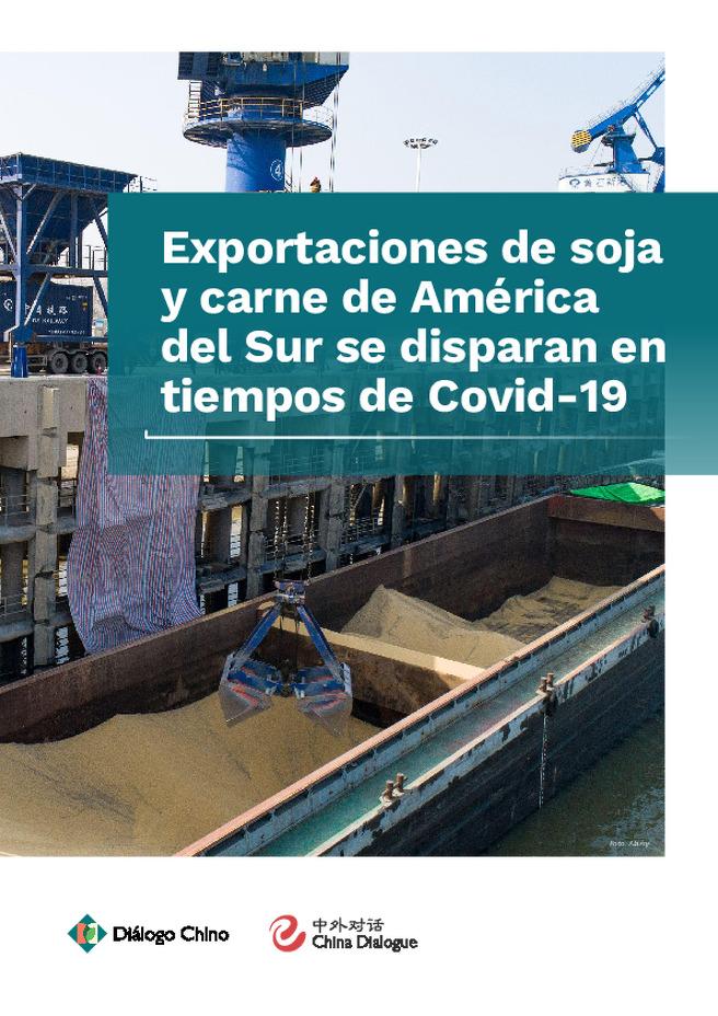 Exportaciones de soja y carne de América de Sul se disaparan en tiempos de Covid-19